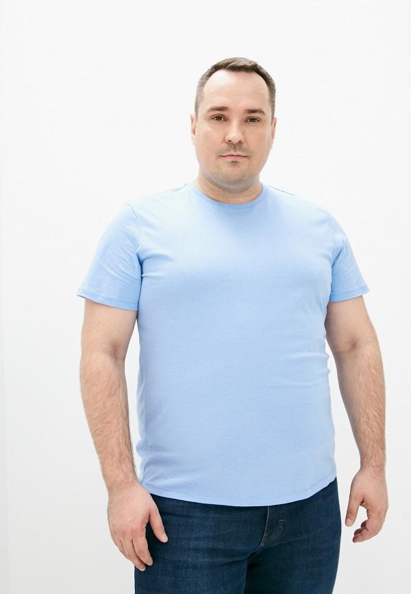 мужская футболка с коротким рукавом fine joyce, голубая