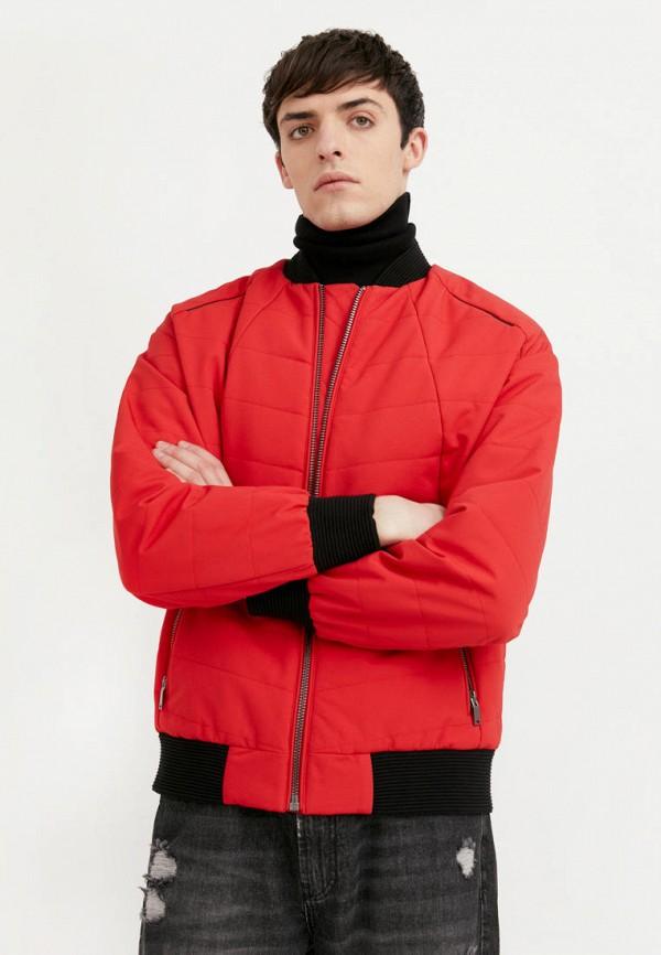 Куртка утепленная Finn Flare красного цвета
