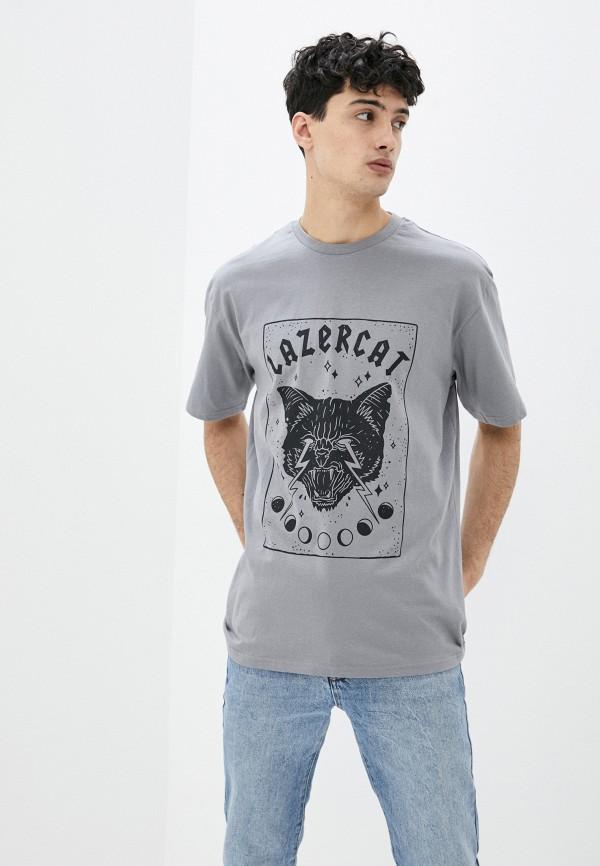 мужская футболка с коротким рукавом befree, серая