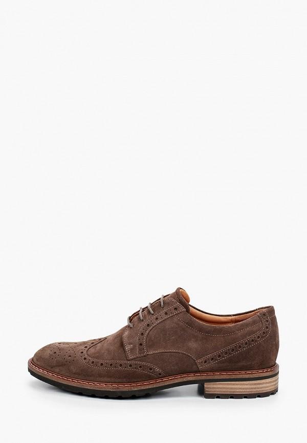 мужские туфли-оксфорды ecco, коричневые
