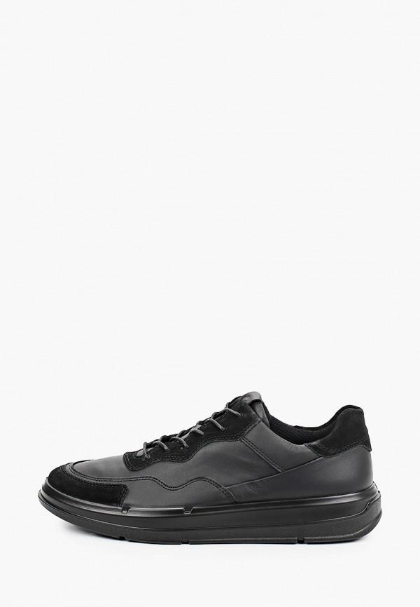 мужские низкие кроссовки ecco, черные