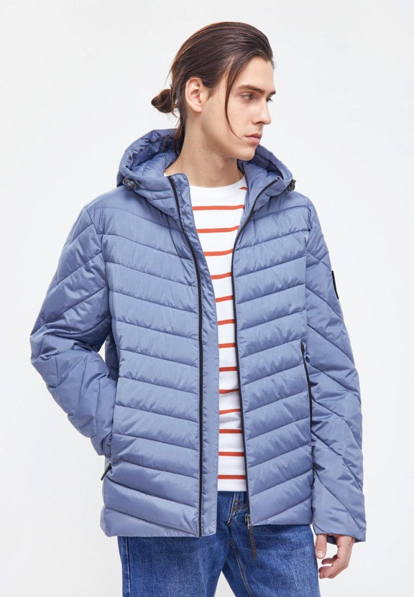 мужская утепленные куртка finn flare, голубая