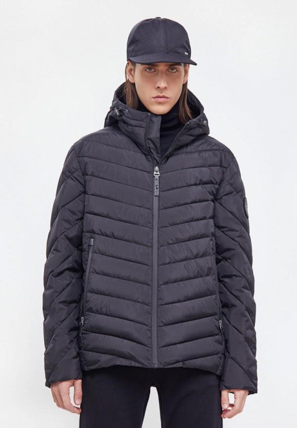 мужская утепленные куртка finn flare, черная