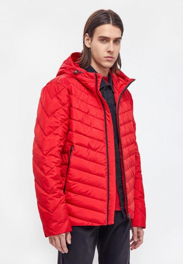 мужская утепленные куртка finn flare, красная