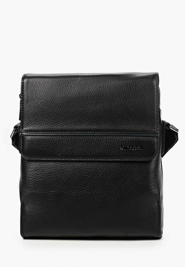 мужская сумка через плечо vitacci, черная