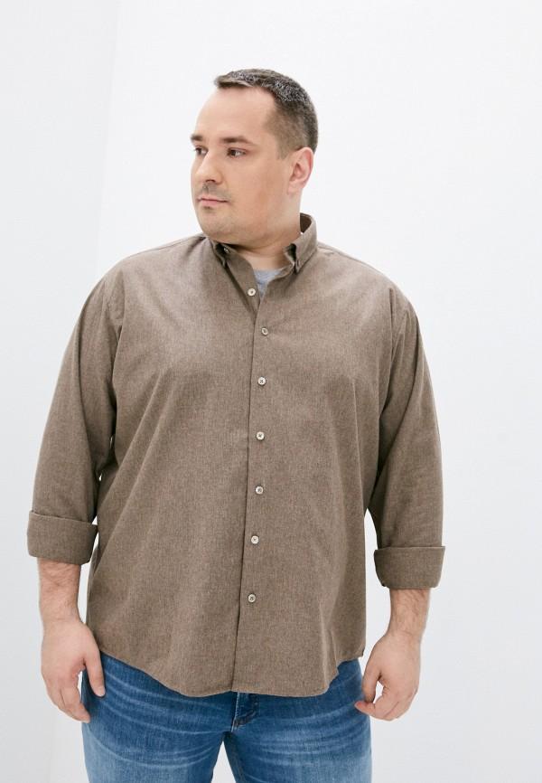 мужская рубашка с длинным рукавом defacto, бежевая