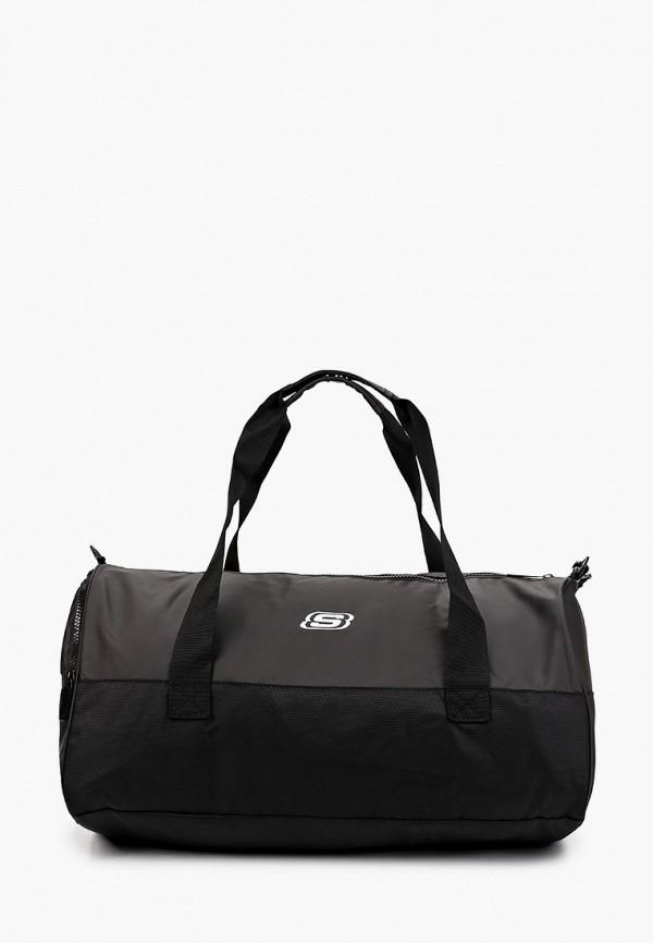 мужская спортивные сумка skechers, черная