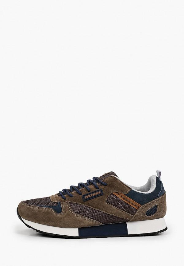 мужские низкие кроссовки patrol, коричневые