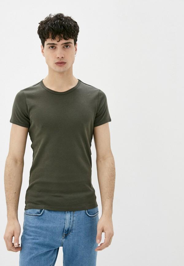 мужская футболка с коротким рукавом colin's, хаки