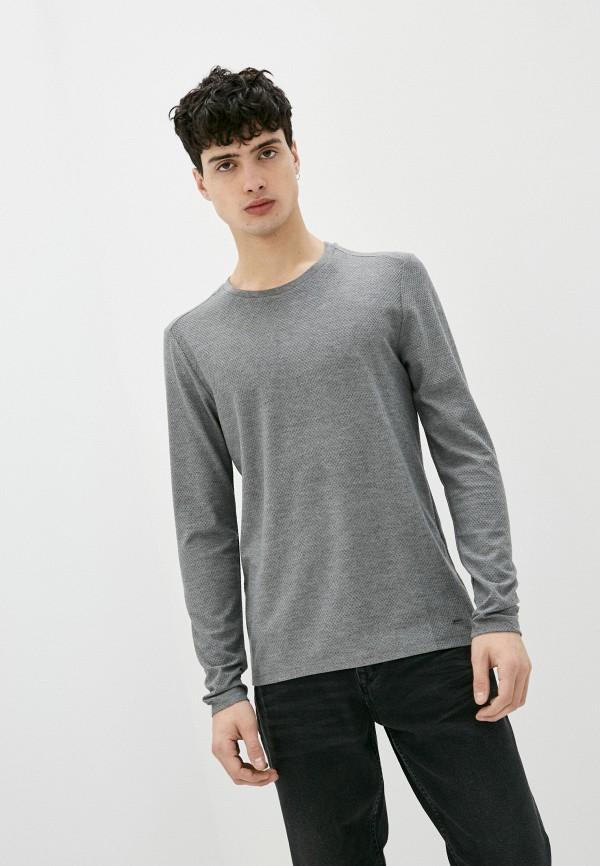 мужской лонгслив colin's, серый