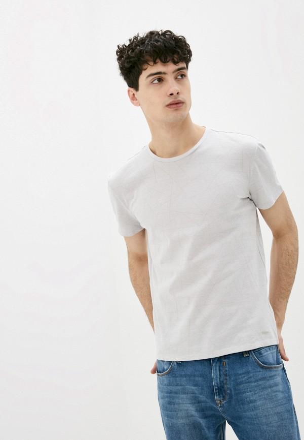 мужская футболка с коротким рукавом colin's, серая