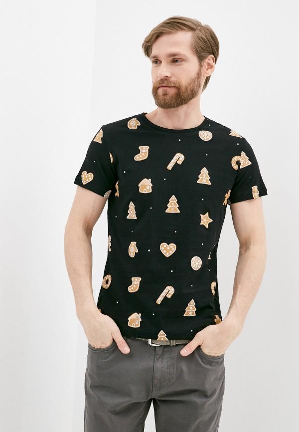 мужская футболка с коротким рукавом colin's, черная
