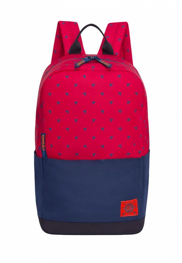 мужской рюкзак grizzly, красный