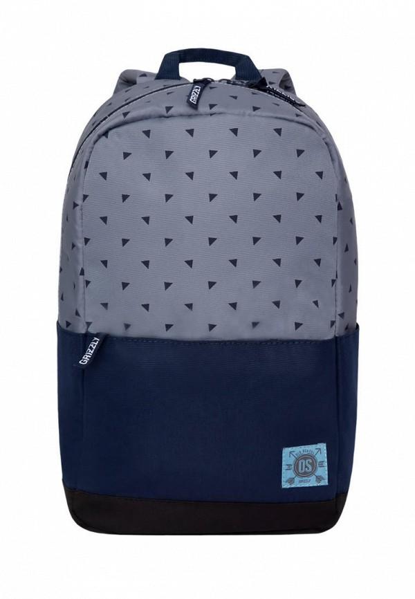 мужской рюкзак grizzly, серый