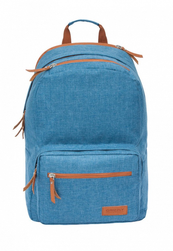 мужской рюкзак grizzly, голубой