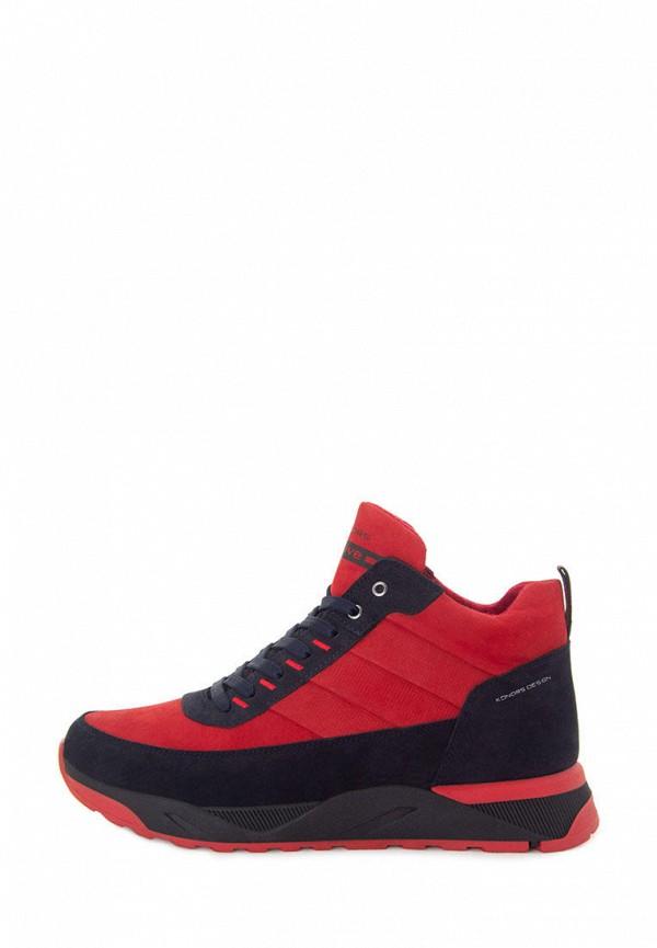 мужские ботинки konors, красные