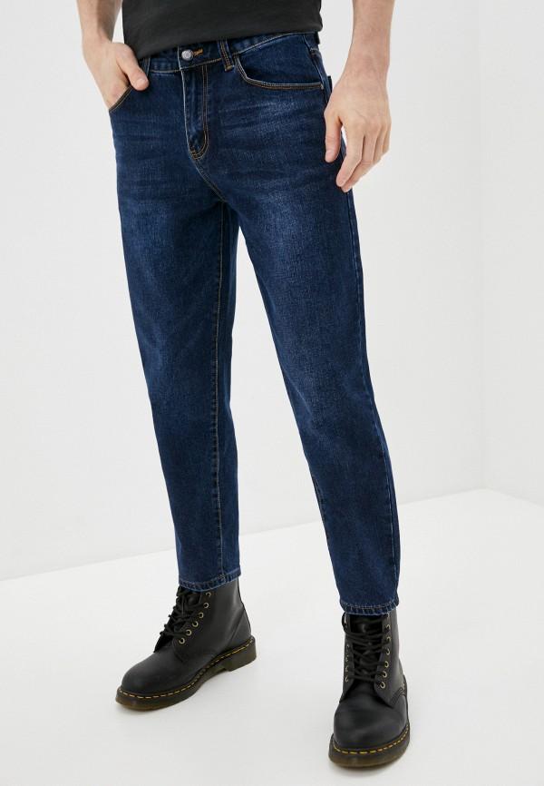 мужские зауженные джинсы wild simbol, синие