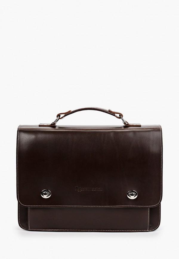 мужской портфель igermann, коричневый
