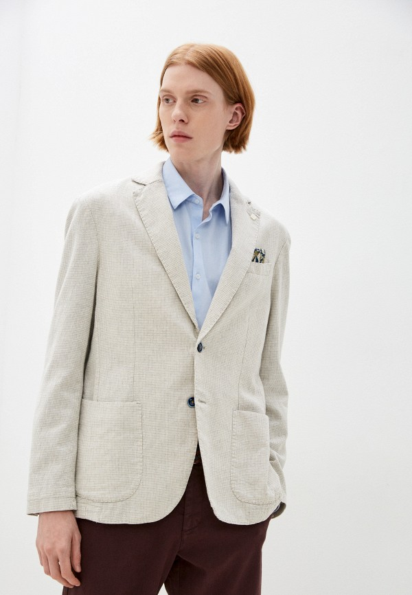 мужской пиджак henderson, бежевый
