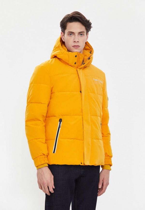 Куртка утепленная Finn Flare оранжевого цвета