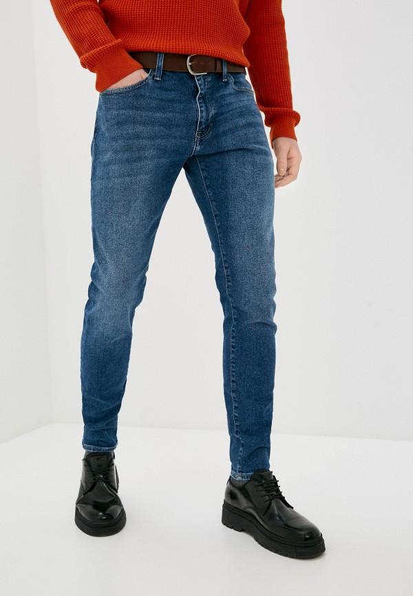 мужские зауженные джинсы mavi, синие