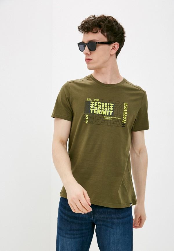 мужская футболка с коротким рукавом termit, хаки