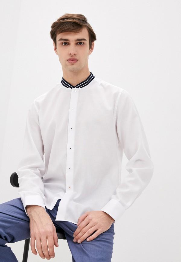мужская рубашка с длинным рукавом eterna, белая