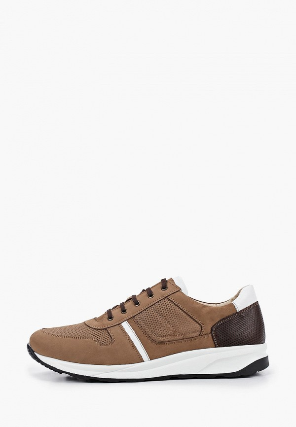 мужские низкие кроссовки quattrocomforto, коричневые