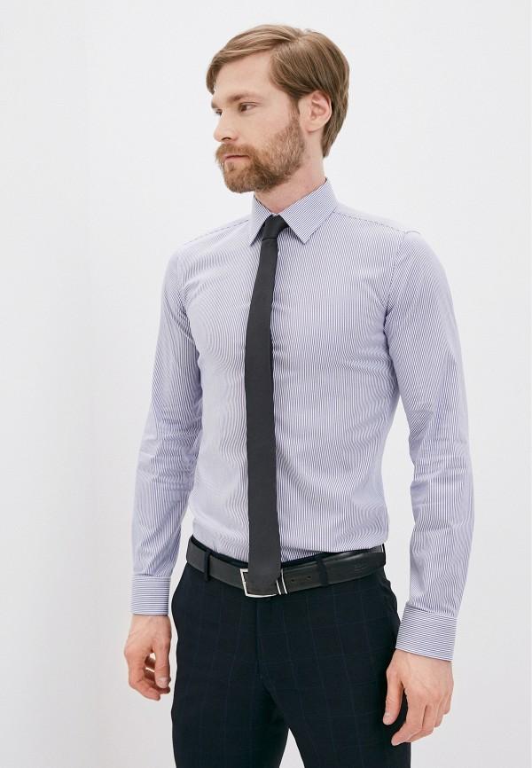 мужская рубашка с длинным рукавом henderson, синяя