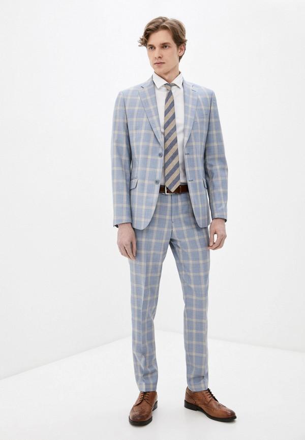 мужской классические костюм bazioni, голубой