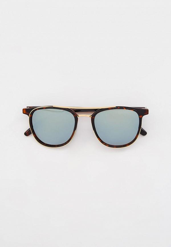 мужские квадратные солнцезащитные очки keddo, золотые