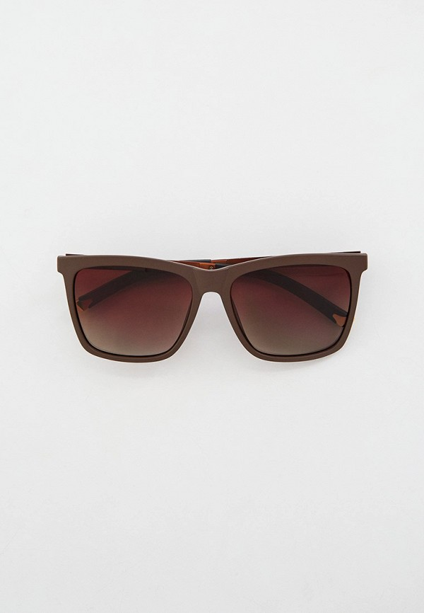 мужские квадратные солнцезащитные очки keddo, коричневые
