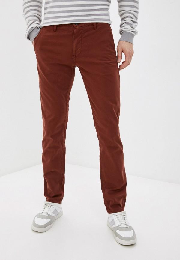 мужские брюки чинос boss, коричневые