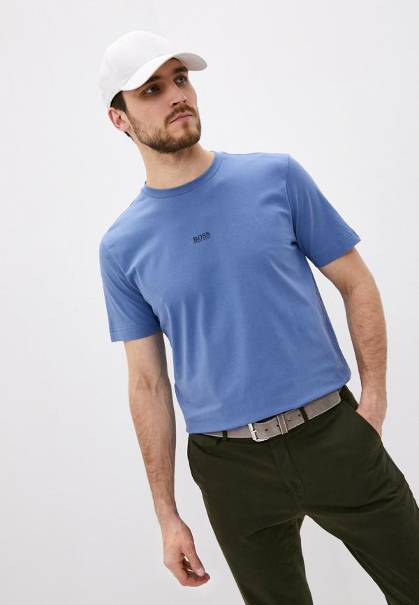 мужская футболка с коротким рукавом boss, синяя