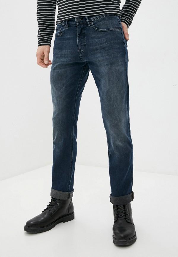 мужские зауженные джинсы boss, синие
