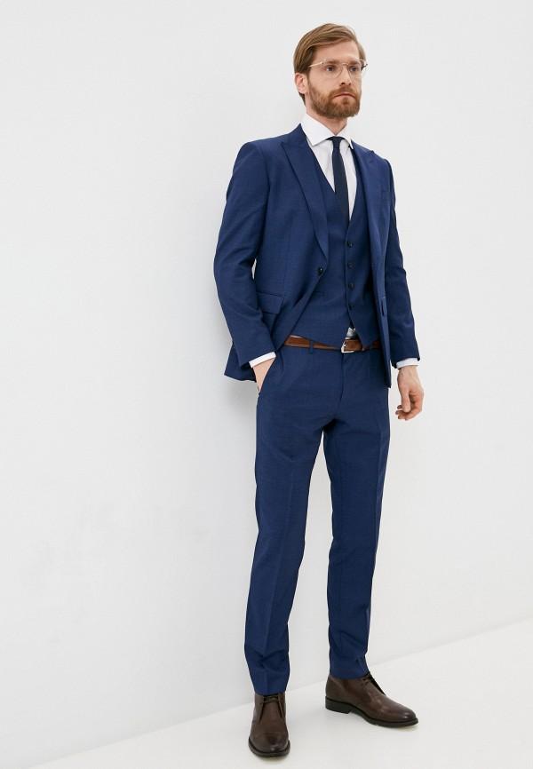 мужской классические костюм boss, синий