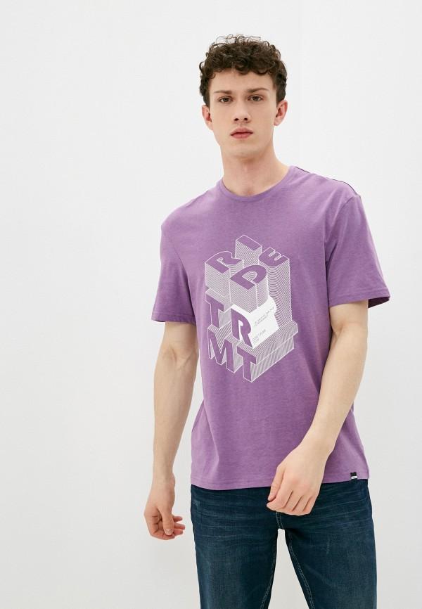 мужская футболка с коротким рукавом termit, фиолетовая