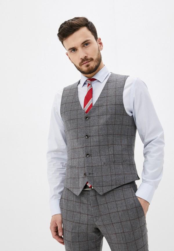 мужской жилет bazioni, серый