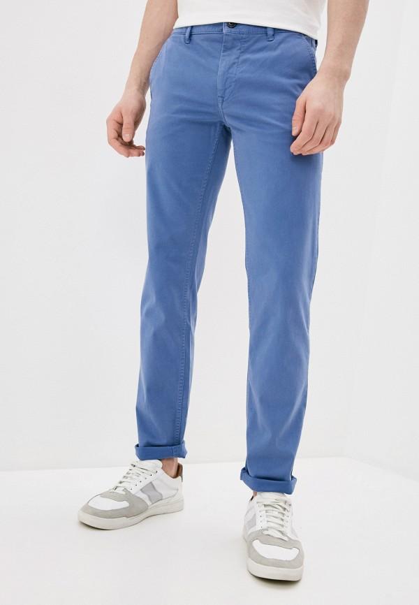 мужские зауженные брюки boss, синие