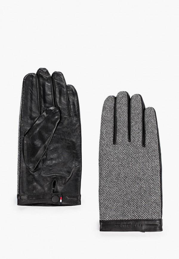 мужские перчатки tommy hilfiger, серые