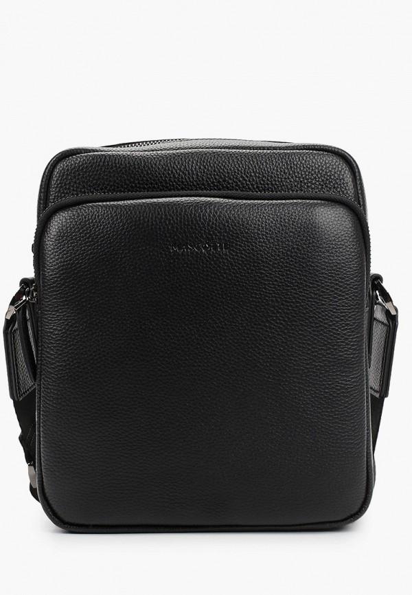 мужская сумка через плечо mascotte, черная
