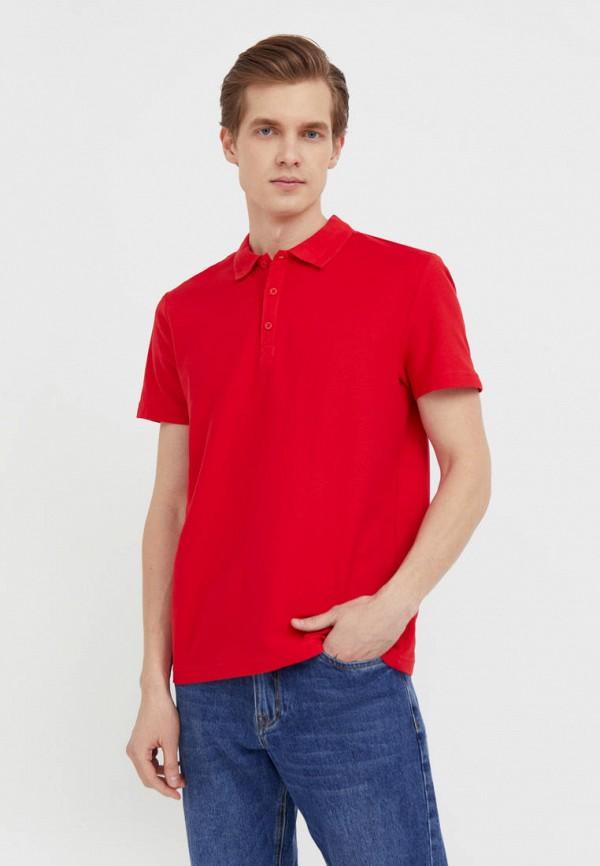 Поло Finn Flare красного цвета
