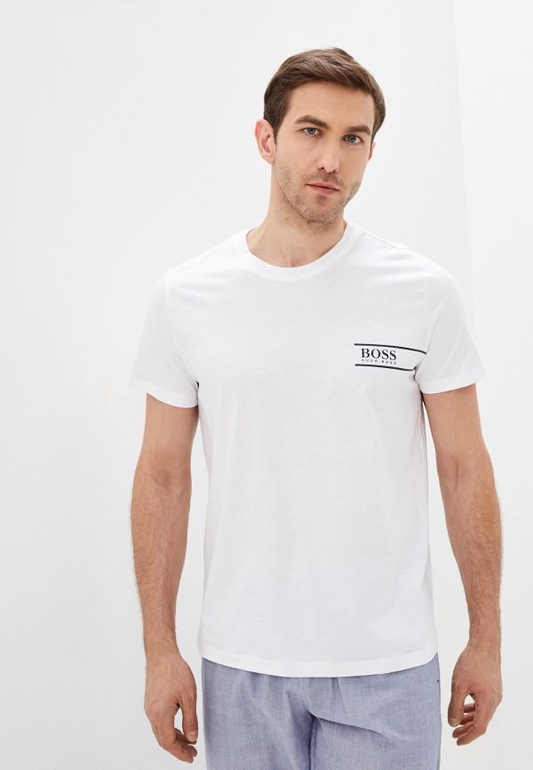 мужская футболка boss, белая
