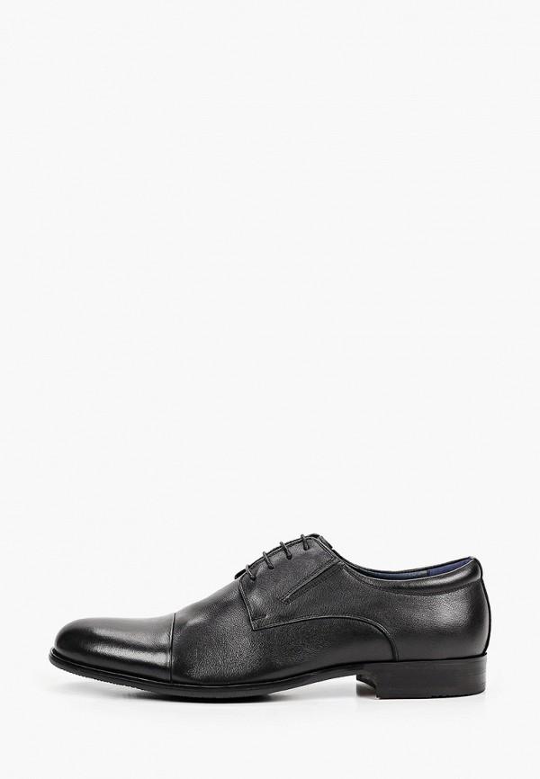 мужские туфли-дерби brooman, черные