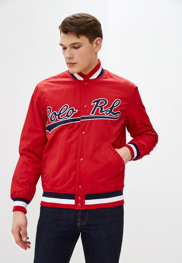 мужская куртка бомбер polo ralph lauren, красная