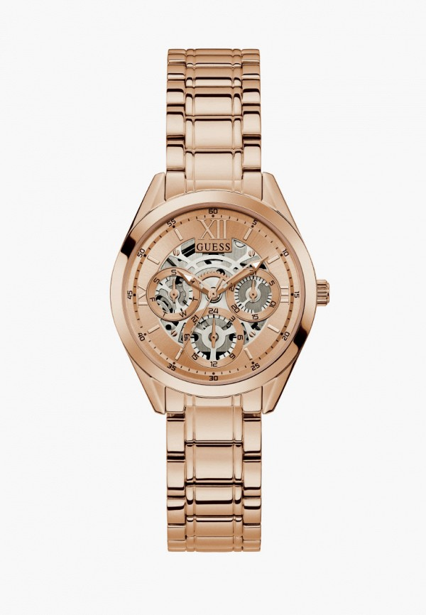 мужские часы guess, золотые