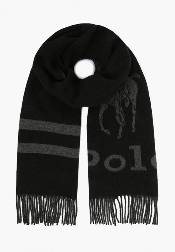 мужской шарф polo ralph lauren, черный