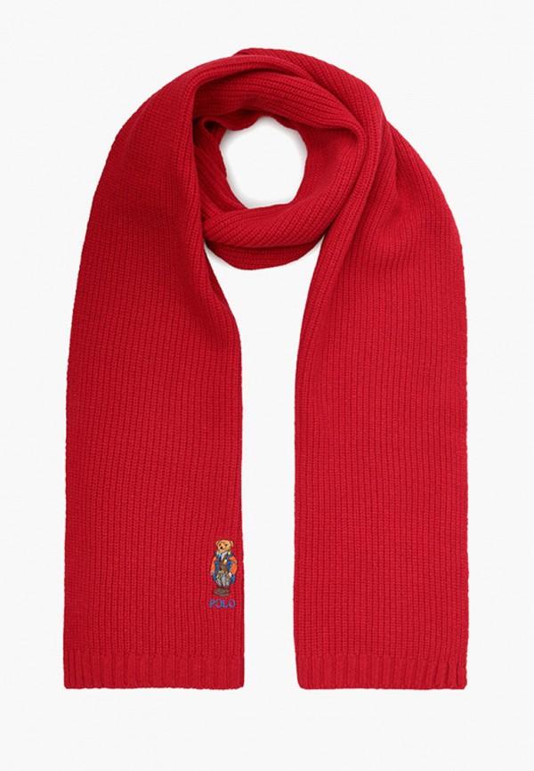 мужской шарф polo ralph lauren, красный