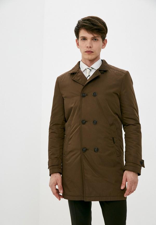 мужская утепленные куртка bazioni, коричневая