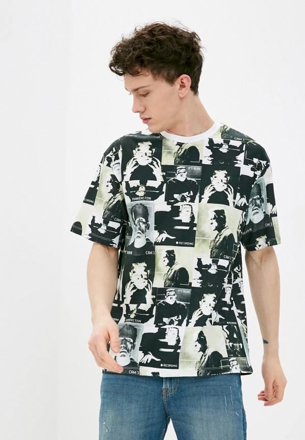 мужская футболка с коротким рукавом befree, зеленая